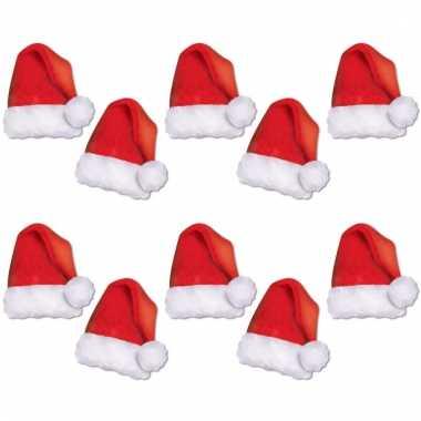 Kerst etalage versiering kerstmutsen