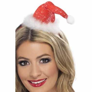 Kerst haarband met kerstmutsje