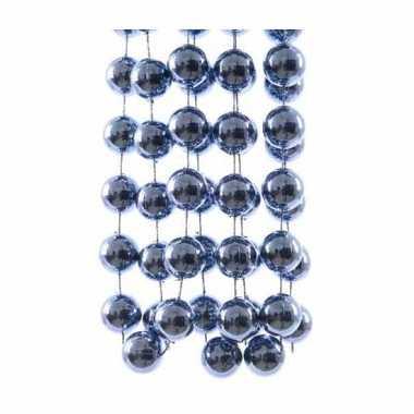 Kerst kralen slinger blauw 270 cm