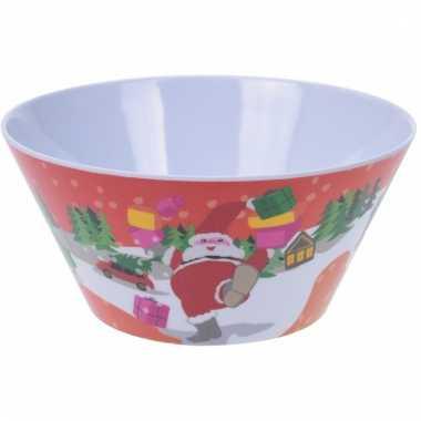 Kerst schaal met kerstman 14 cm