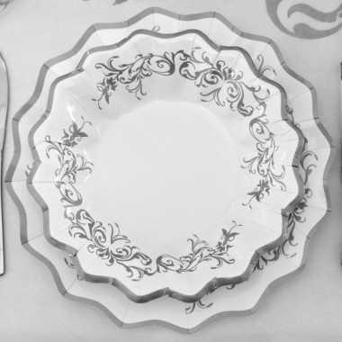 Kerst schaaltjes zilver 24 cm