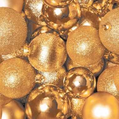 Kerst servetten gouden kerstballen