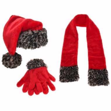 Kerst sneeuwpop maken accessoire set 3 delig