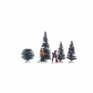 Kerst tafeerel spelende kinderen 6-delig 26,5 cm type 1