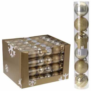 Kerstbal pakket goud 7 cm