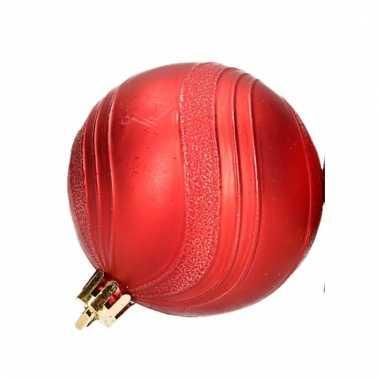 Kerstballenset rood 2 soorten 6 cm