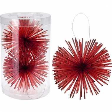 Kerstboom decoratie kerstbol rood 11 cm