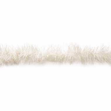 Kerstboomversiering folie slinger wit 200 cm