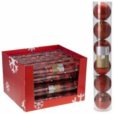 Kerstboomversiering rode ballen 7 cm