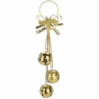 Kerstdecoratie bellen hanger goud 50 cm