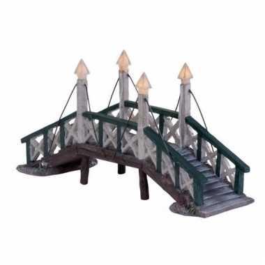 Kerstdorp bruggetje van hindeloopen elfstedentocht