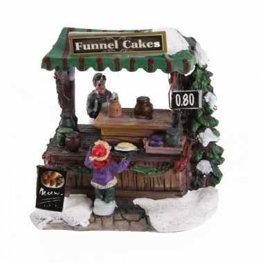 Kerstdorp marktkraam trechtercake