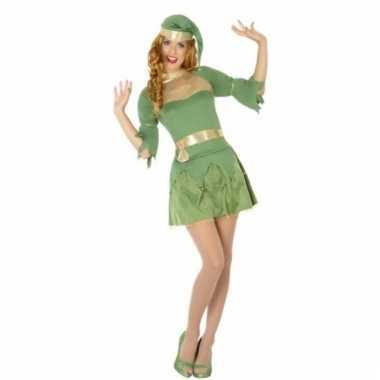 Kerstelf jurkje groen