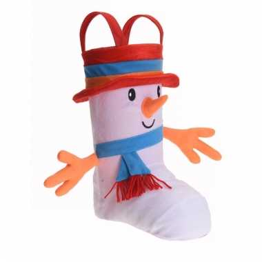 Kerstkadootjes zak schoen sneeuwpop
