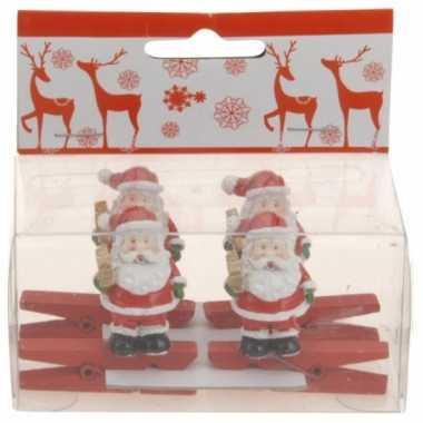 Kerstknijper met kerstman 4x