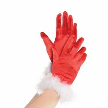 Kerstman handschoenen voor dames
