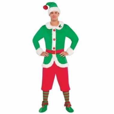 Kerstman helper kostuum voor heren