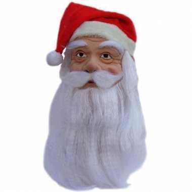 Kerstman masker met baard
