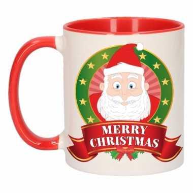 Kerstman melk mok / beker voor kerst 300 ml
