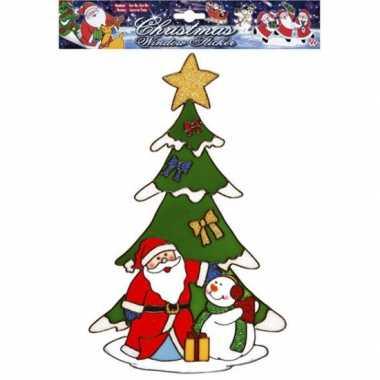 Kerstman raamsticker herbruikbaar