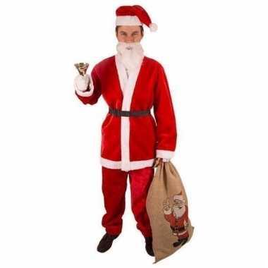 Kerstmannenpak pluche in maat xl