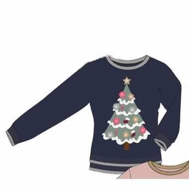 Kerstmis blauwe damestrui met kerstboom