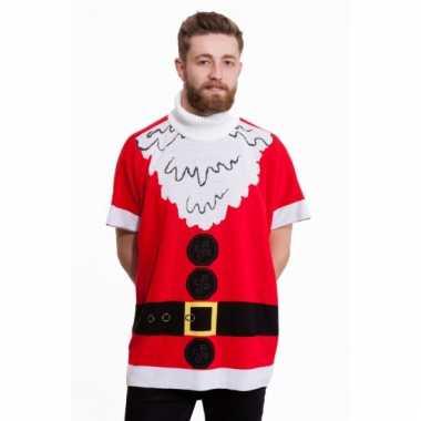Kerstmis poncho kerstman voor heren