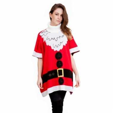 Kerstmis poncho kerstvrouw