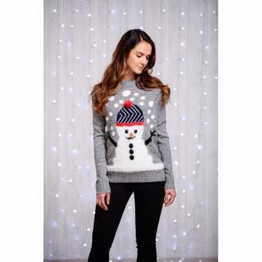 Kerstmis trui dames sneeuwpop