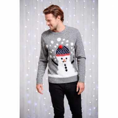 Kerstmis trui heren sneeuwpop