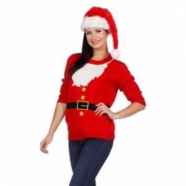 Kerstmis trui kerstman voor vrouwen