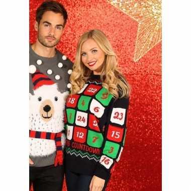 Kerstmis trui met adventskalender