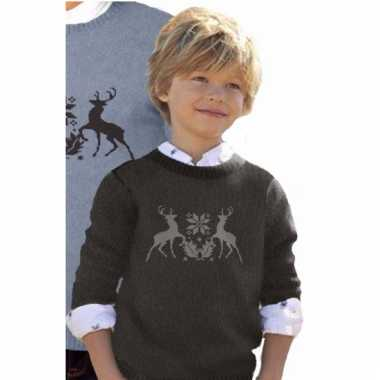 Kerstmis trui met rendieren voor kids
