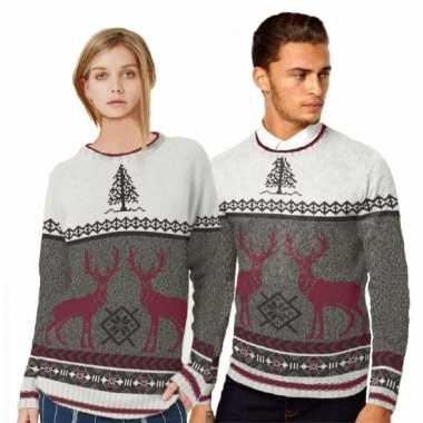 Kerstmis trui met rendieren voor mannen