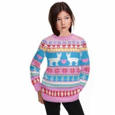 Kerstmis trui roze voor meiden