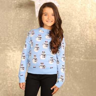 Kerstmis trui sneeuwpoppen voor meisjes