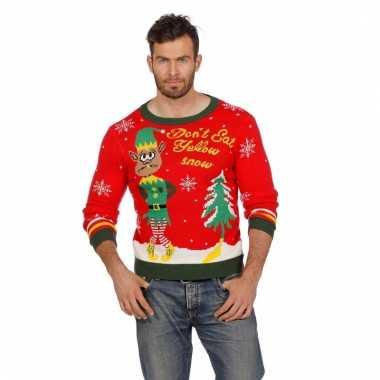 Kerstmis trui yellow snow voor mannen