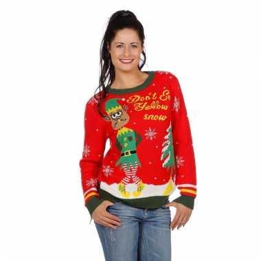 Kerstmis trui yellow snow voor vrouwen