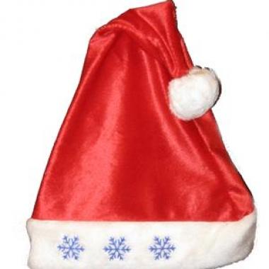 Kerstmuts met sneeuwvlok lampjes