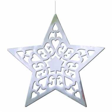 Kerstster decoratie zilver 50 cm