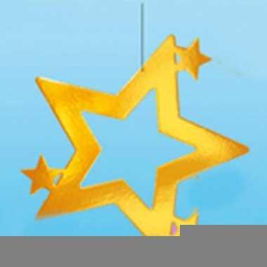 Kerstster hangdecoratie goud 68 cm