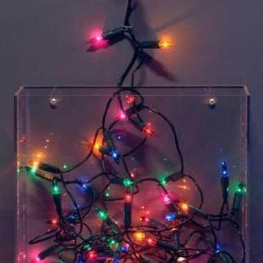 Kerstverlichting met gekleurde lampjes 275 cm