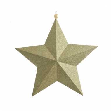 Kerstversiering gouden papieren ster 34 cm
