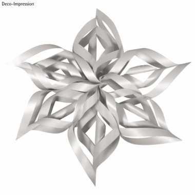 Kerstversiering hobby set zilveren ster
