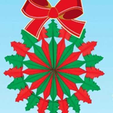 Kerstversiering kerstkrans 60 cm