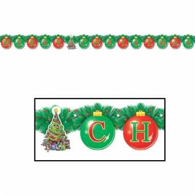 Kerstversiering slinger merry christmas