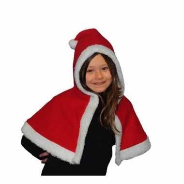 Kerstvrouw cape voor meisjes