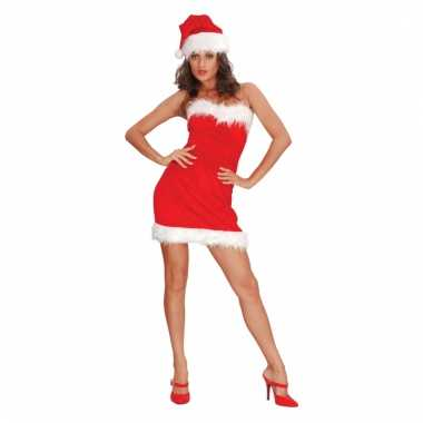 Kerstvrouw jurkje strapless