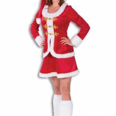 Kerstvrouw outfit fluweel voor dames