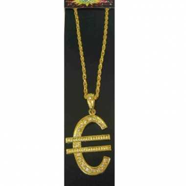 Ketting met euro teken goud